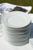 Dishes on white napkin Stock Photography