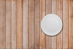 Dishes on a wooden table Royalty Free Stock Photo