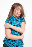 Disheveled looking young girl Royalty Free Stock Photography