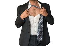 Disheveled mężczyzna w kostiumu Fotografia Royalty Free
