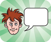 Dishevelled face with speech bubble. Vector illustration of dishevelled face with speech bubble. Easy-edit layered vector EPS10 file scalable to any size without Royalty Free Stock Image