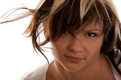 Dishevelled girl Stock Image