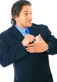 Dishonest Young Businessman Stock Photos