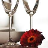 Dishware с цветком стоковые фото