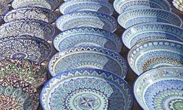 Dishware cerâmico, Usbequistão imagem de stock royalty free