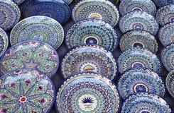 Dishware cerâmico, Usbequistão fotografia de stock royalty free