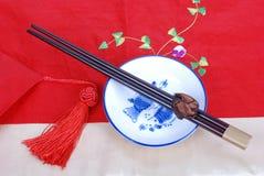 Dishware chino Foto de archivo libre de regalías