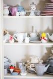 Dishware chique gasto do estilo fotografia de stock royalty free