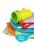 Dishware de pique-nique photographie stock