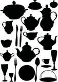 Dishware del café y del té ilustración del vector