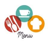 Dishware del restaurante y de la cocina ilustración del vector