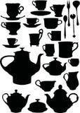 Dishware del té y del café stock de ilustración