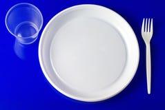 Dishware en plastique Photos stock