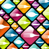 Dishware gourmet icons background Royalty Free Stock Photography