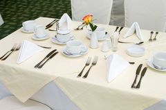 Dishware On The Table Royalty Free Stock Photo