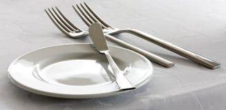 Dishware op een lijst stock foto