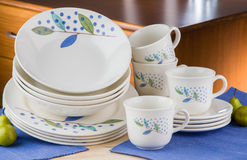 dishware set Obrazy Royalty Free
