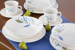 Dishware set Stock Photo