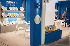 A dishware stand at Host 2013 in Milan, Italy Royalty Free Stock Images