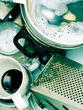 Dishware sujo Imagem de Stock