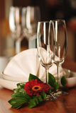 Dishware on the table Stock Photography