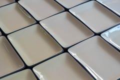 Dishwarekeramik weißes Quadrat der Nahaufnahme leere lizenzfreies stockbild