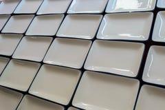Dishwarekeramik weißes Quadrat der Nahaufnahme leere Lizenzfreies Stockfoto