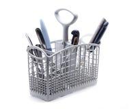 Dishwasher basket Royalty Free Stock Images