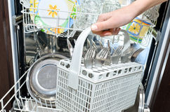 Dishwasher. Royalty Free Stock Image