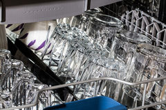 Dishwasher after cleaning process. Stock Images