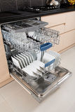 Dishwasher after cleaning process. Stock Photography