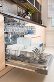 Dishwasher after cleaning process. Royalty Free Stock Photo