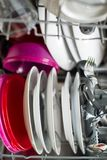 Dishwasher after cleaning process - shallow dof Stock Photos