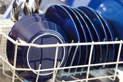 Dishwasher closeup Royalty Free Stock Image