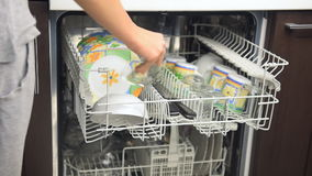 Dishwasher. stock footage
