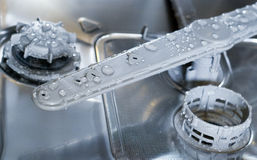 Dishwasher inside Stock Image