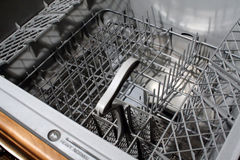 Dishwasher Interior. This is an image of the interior of a dish drawer royalty free stock photos