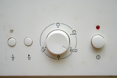 Dishwasher machine. Command buttons for dirty dishwasher machine Stock Photography