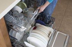 Dishwasher opening background Stock Photo