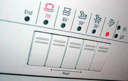 Dishwasher panel royalty free stock photos