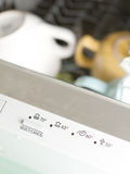 Dishwasher panel Royalty Free Stock Image