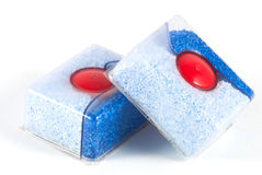 Dishwasher tablets Royalty Free Stock Photos