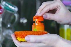 Dishwashing стоковая фотография