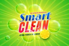 Dishwashing detergent with lemon packaging concept template. Vector stock illustration