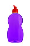 Dishwashing detergent. Mauve dishwashing detergent isolated on white background Stock Images