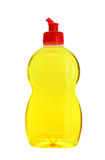 Dishwashing detergent. Yellow dishwashing detergent isolated on white background Royalty Free Stock Photography