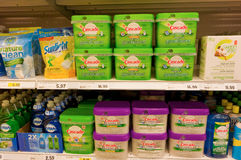 Dishwashing detergents at canadian tire Stock Photography