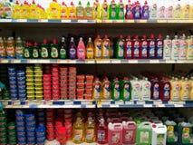 Dishwashing detergents Royalty Free Stock Images