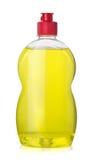Dishwashing liquid. Full bottle  of yellow dishwashing liquid isolated on white Royalty Free Stock Photography