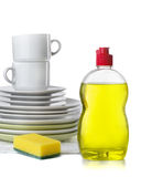Dishwashing liquid Royalty Free Stock Images